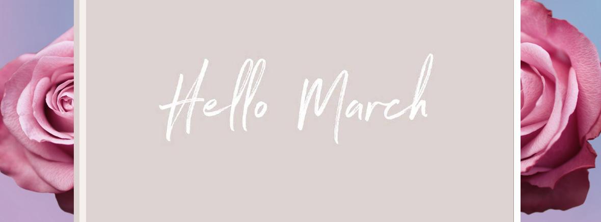 Встречаем весну с нашими лучшими предложениями марта!